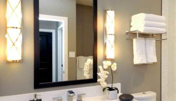 Consejos para iluminar el baño (lavabo iluminado)